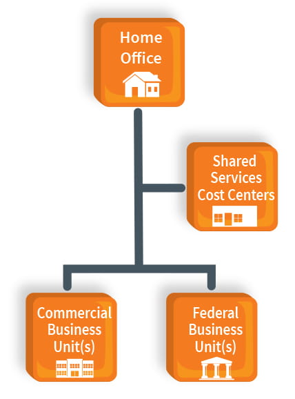 OPTIMIZING AN ORGANIZATION WITH DISPARATE COMMERCIAL AND FEDERAL BUSINESS INTERESTS