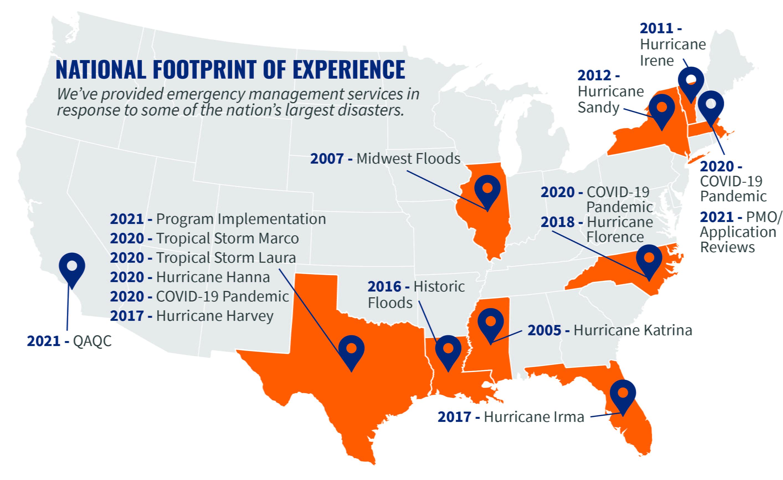 Emergency Management footprint experience