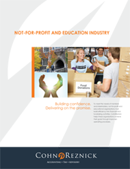 CohnReznick's Not-for-Profit and Education Industry Brochure
