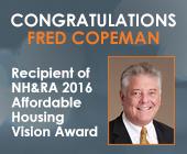 Fred Copeman Receives NH&RA 2016 Affordable Housing Vision Award