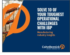 Solve 10 manufacturing industry challenges with IBP